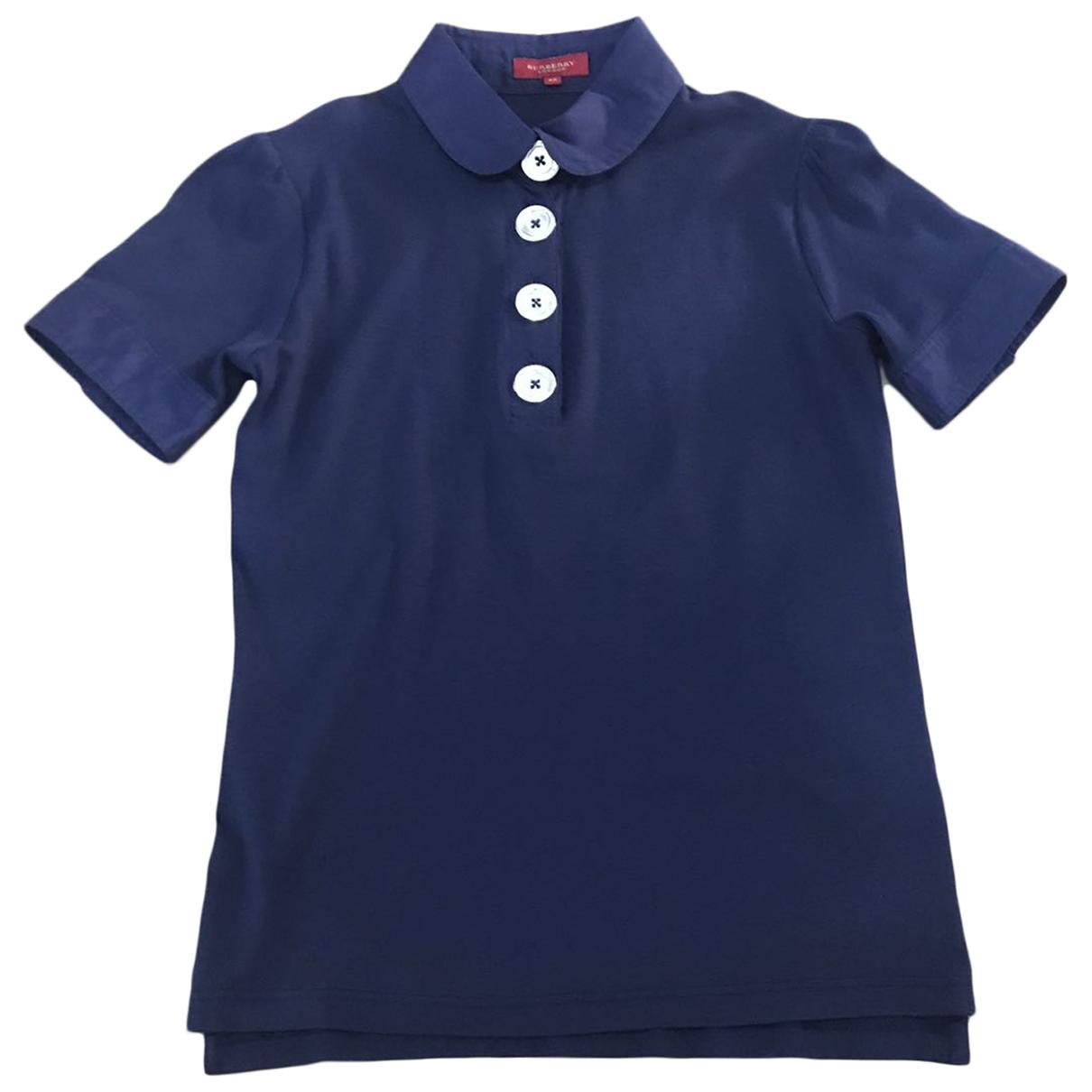 Burberry \N Top in  Blau Baumwolle