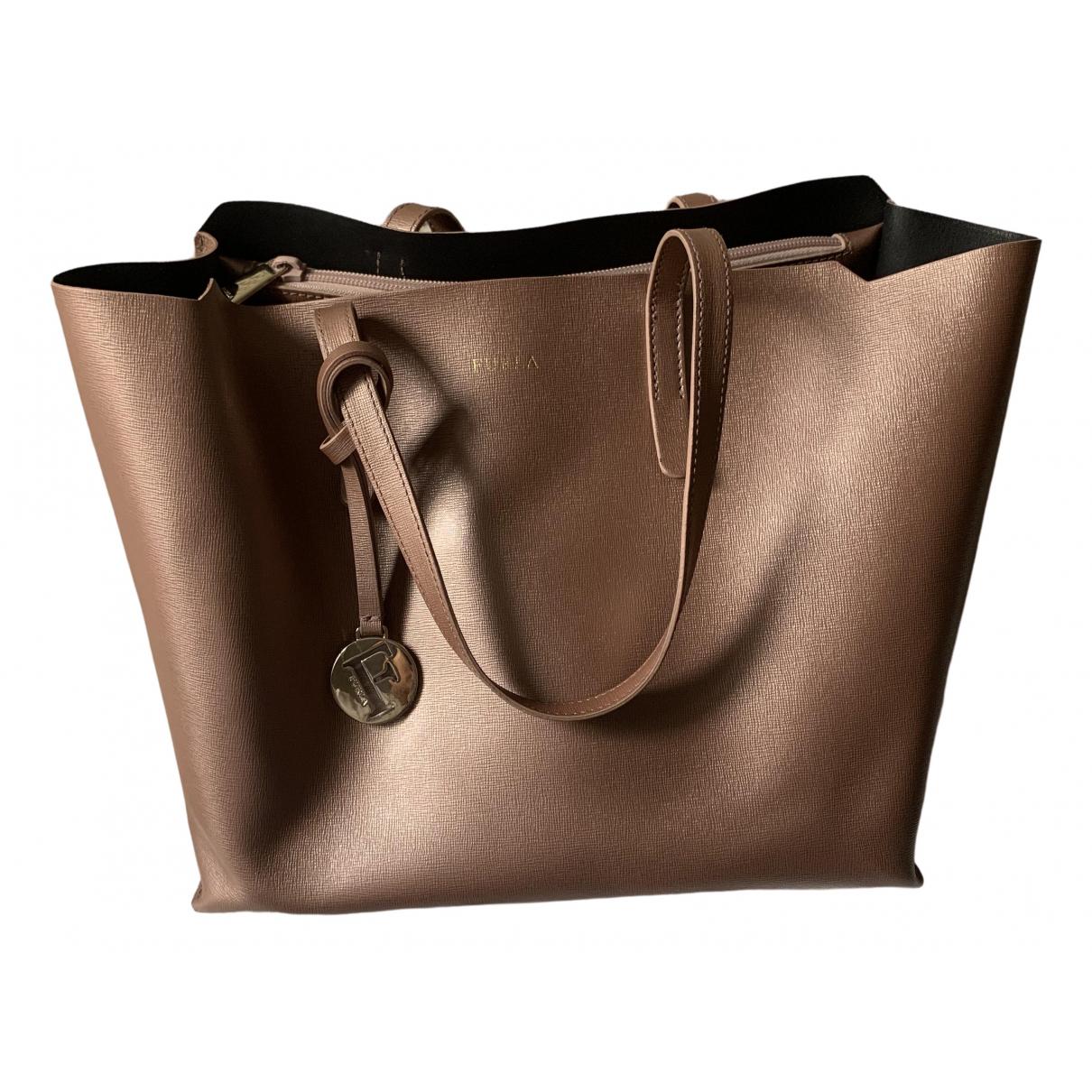 Furla \N Handtasche in  Metallic Leder
