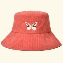 Fischerhut mit Schmetterling Stickereien