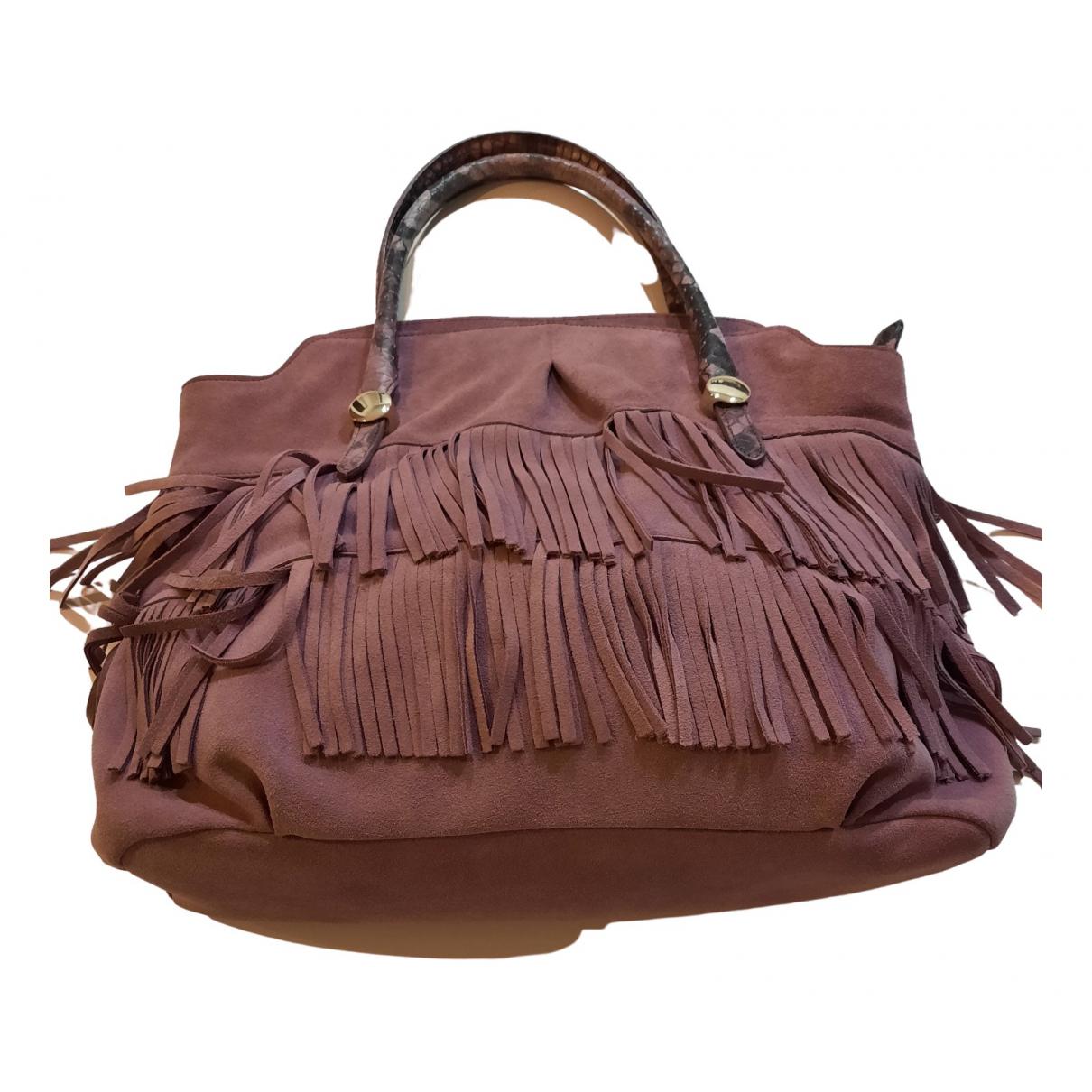 Tosca Blu \N Purple Leather handbag for Women \N