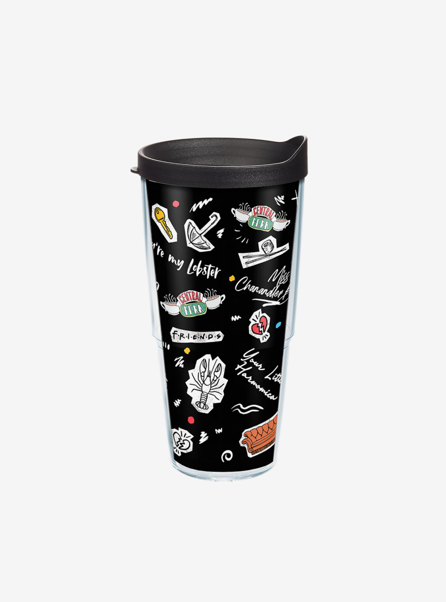 Friends Collage 24oz Classic Tumbler With Lid