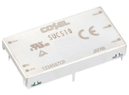 Cosel 12W Isolated DC-DC Converter Through Hole, Voltage in 9 → 18 V dc, Voltage out 12V dc