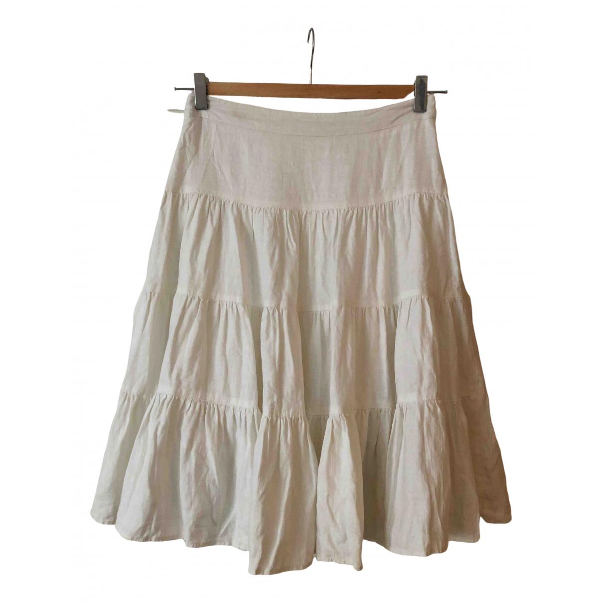 Gianni Versace - Jupe   pour femme en lin - blanc