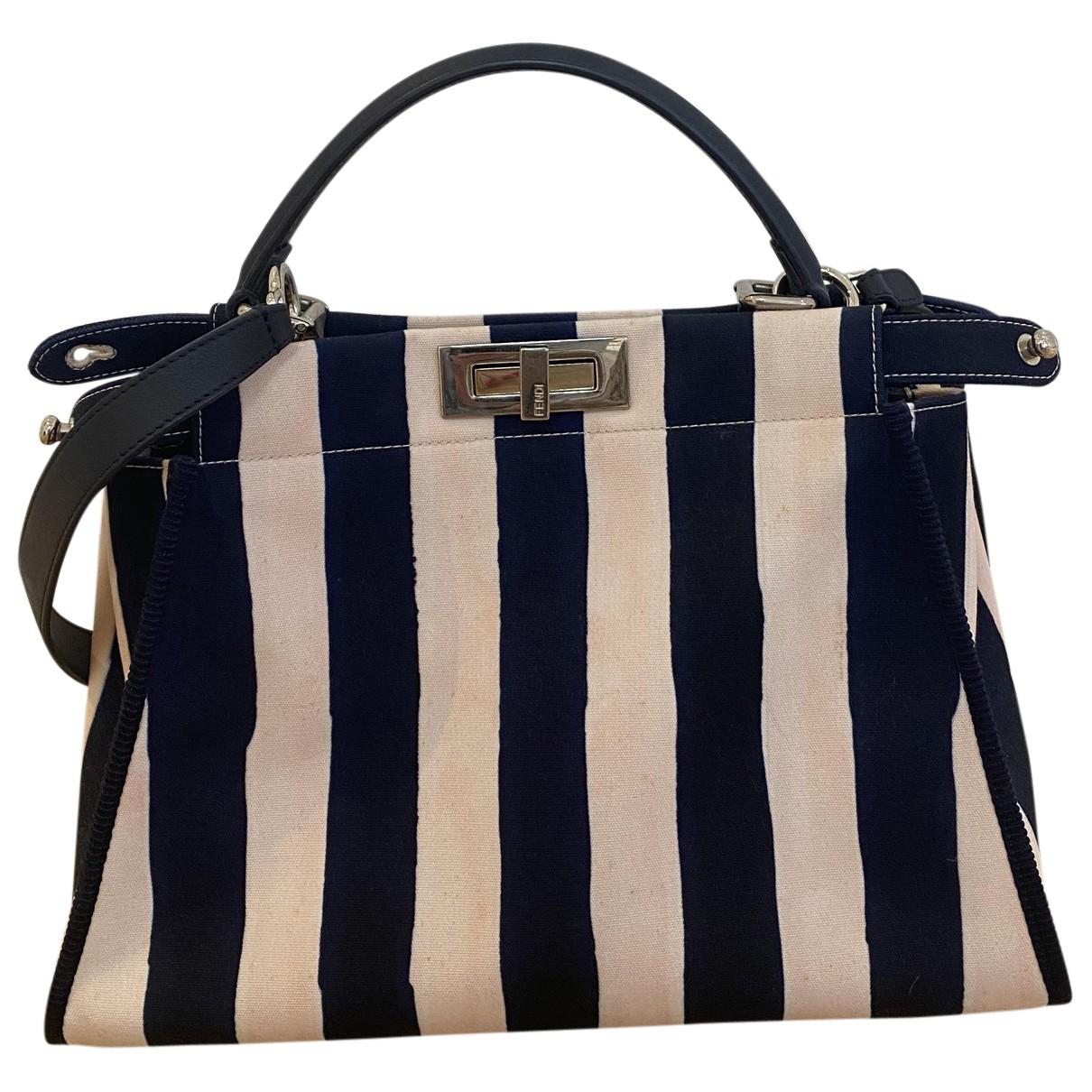 Fendi Peekaboo Pink Cloth handbag for Women N