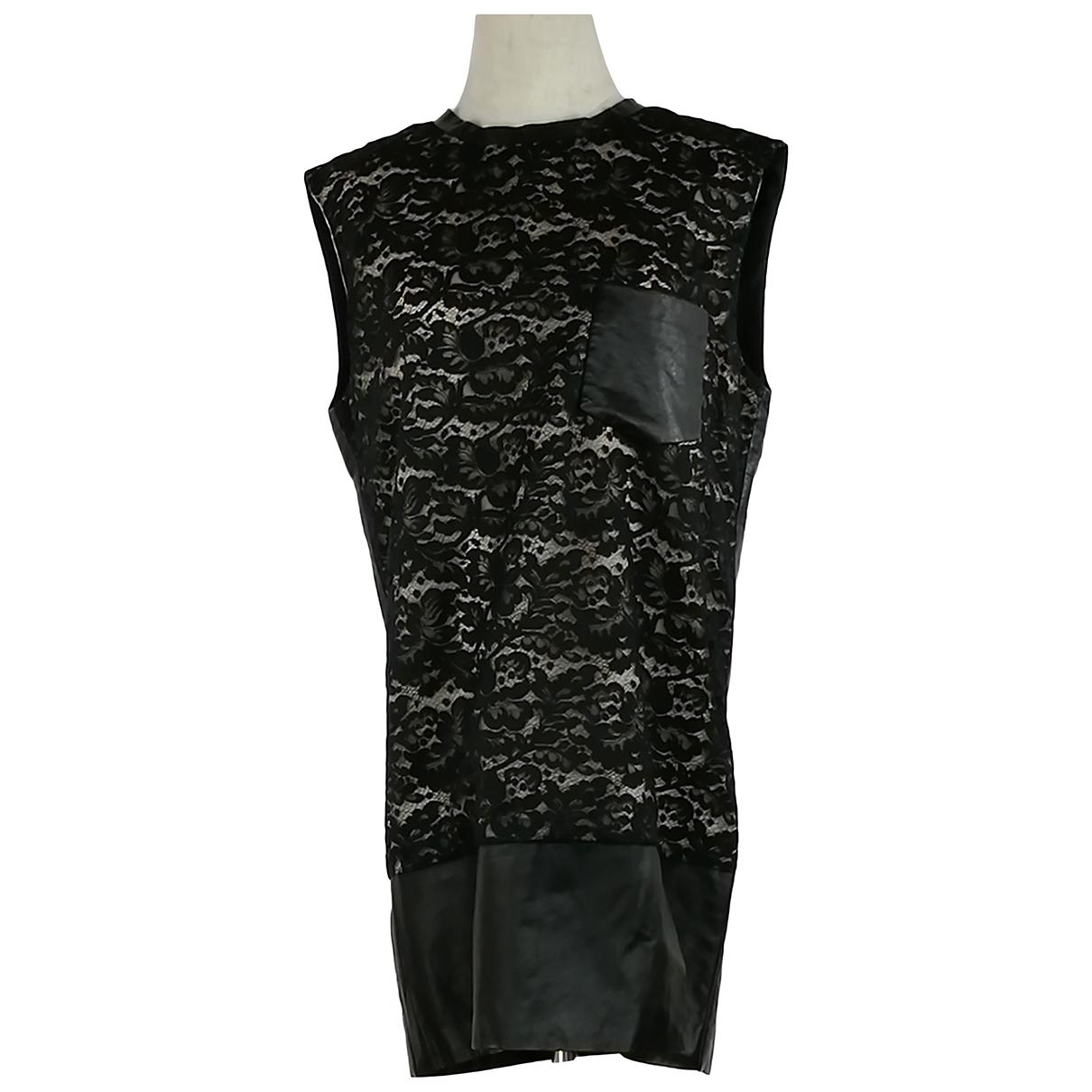 3.1 Phillip Lim - Robe   pour femme en cuir - noir