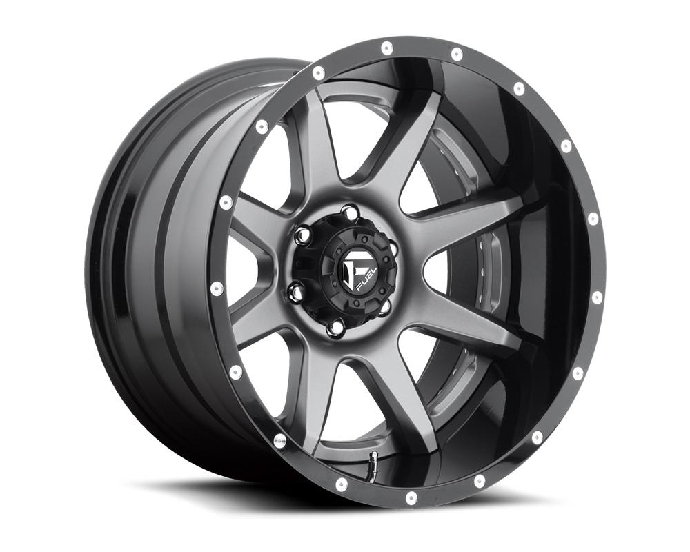 Fuel D238 Rampage Anthracite Center w/ Gloss Black Lip 2-Piece Cast Wheel 22x12 8x180 -44mm