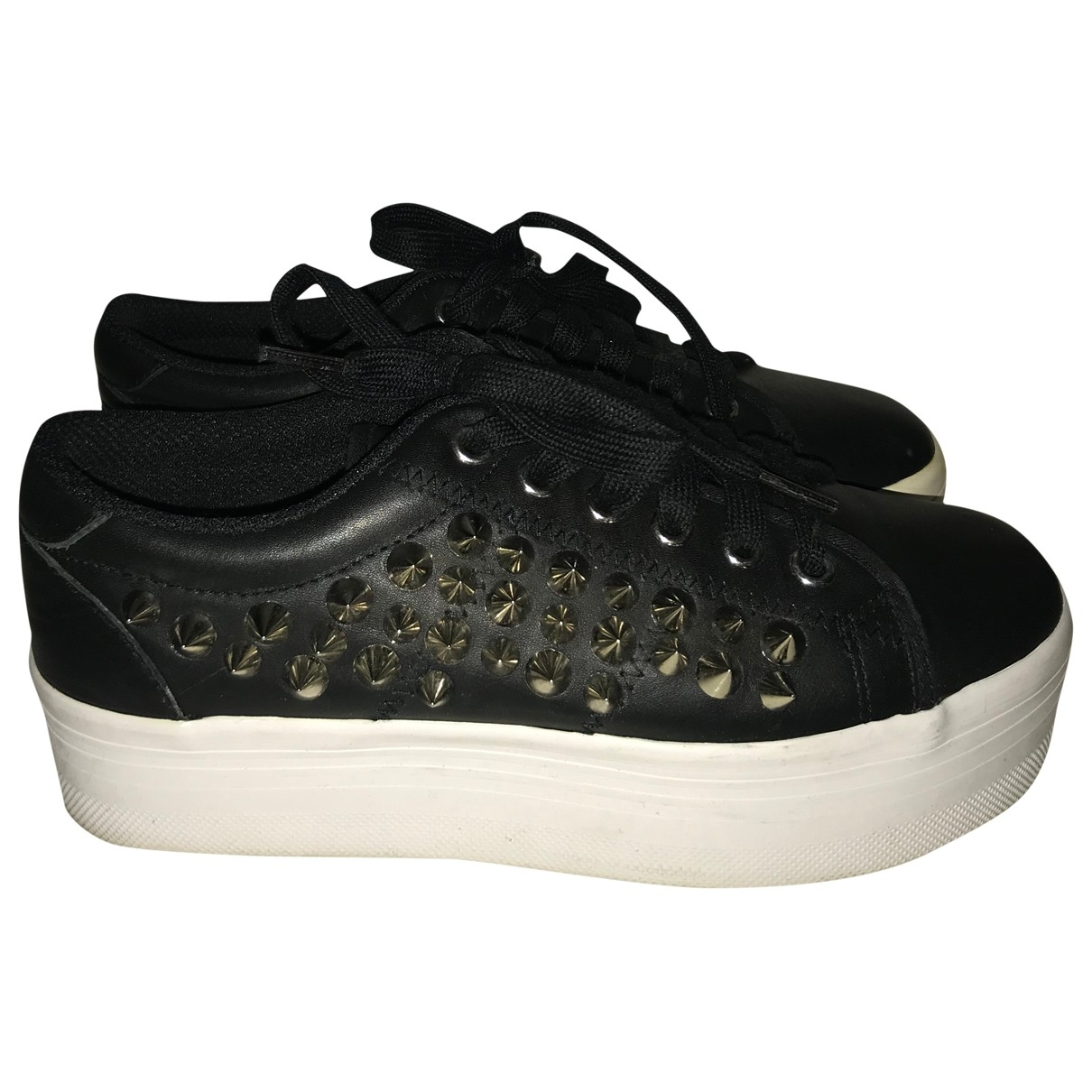 Jeffrey Campbell \N Black Leather Trainers for Women 37 EU