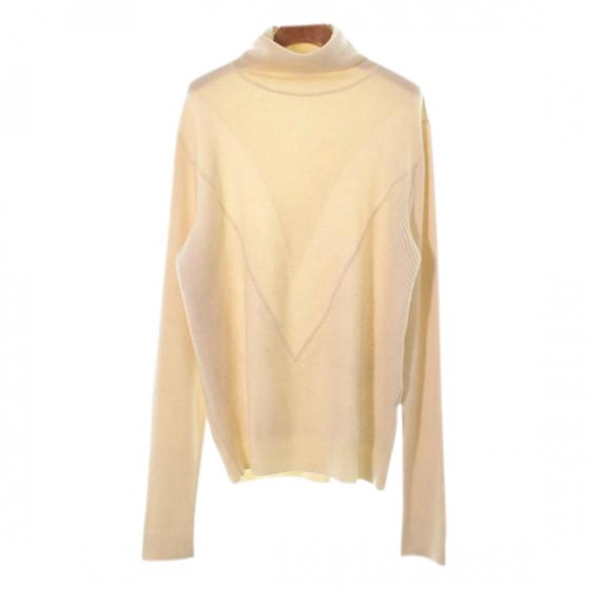 Louis Vuitton \N Pullover.Westen.Sweatshirts  in  Ecru Wolle