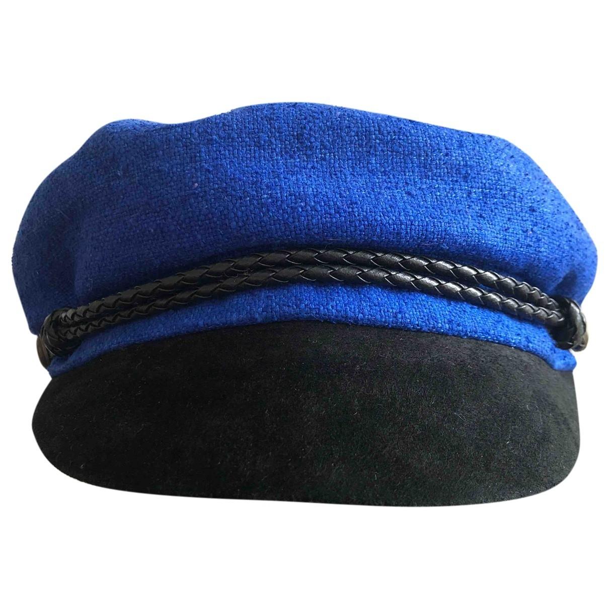 Eugenia Kim \N Blue Linen hat for Women M International