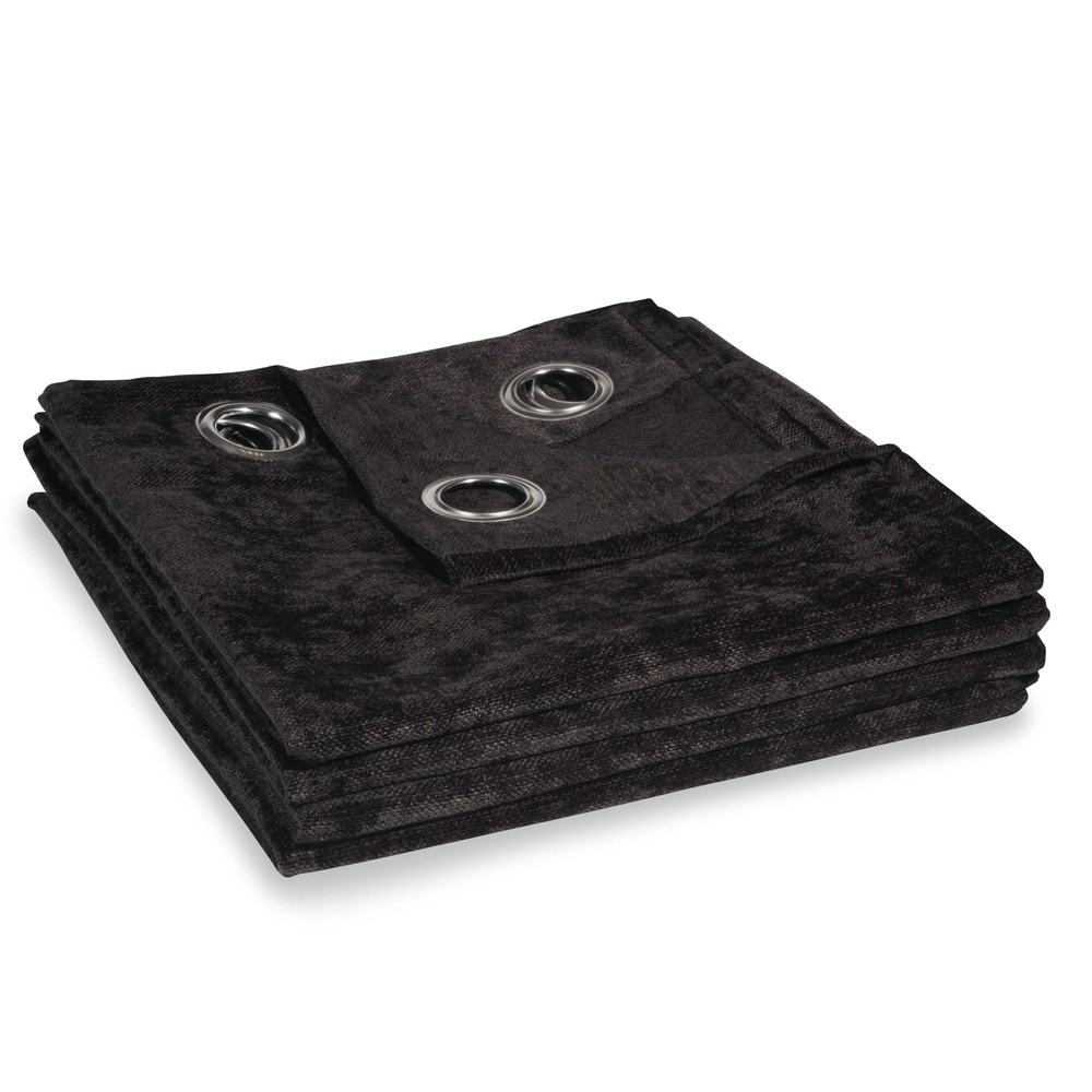 Schwarze Osenvorhang aus Samt, 1 Vorhang 140x300