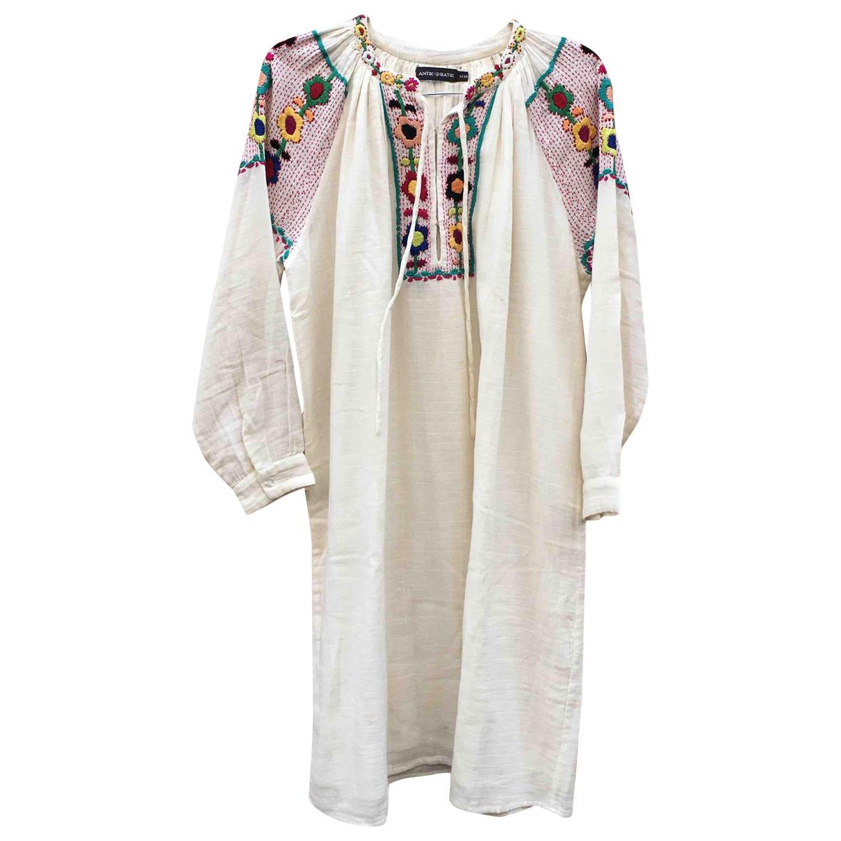 Antik Batik \N White Cotton dress for Women XS International