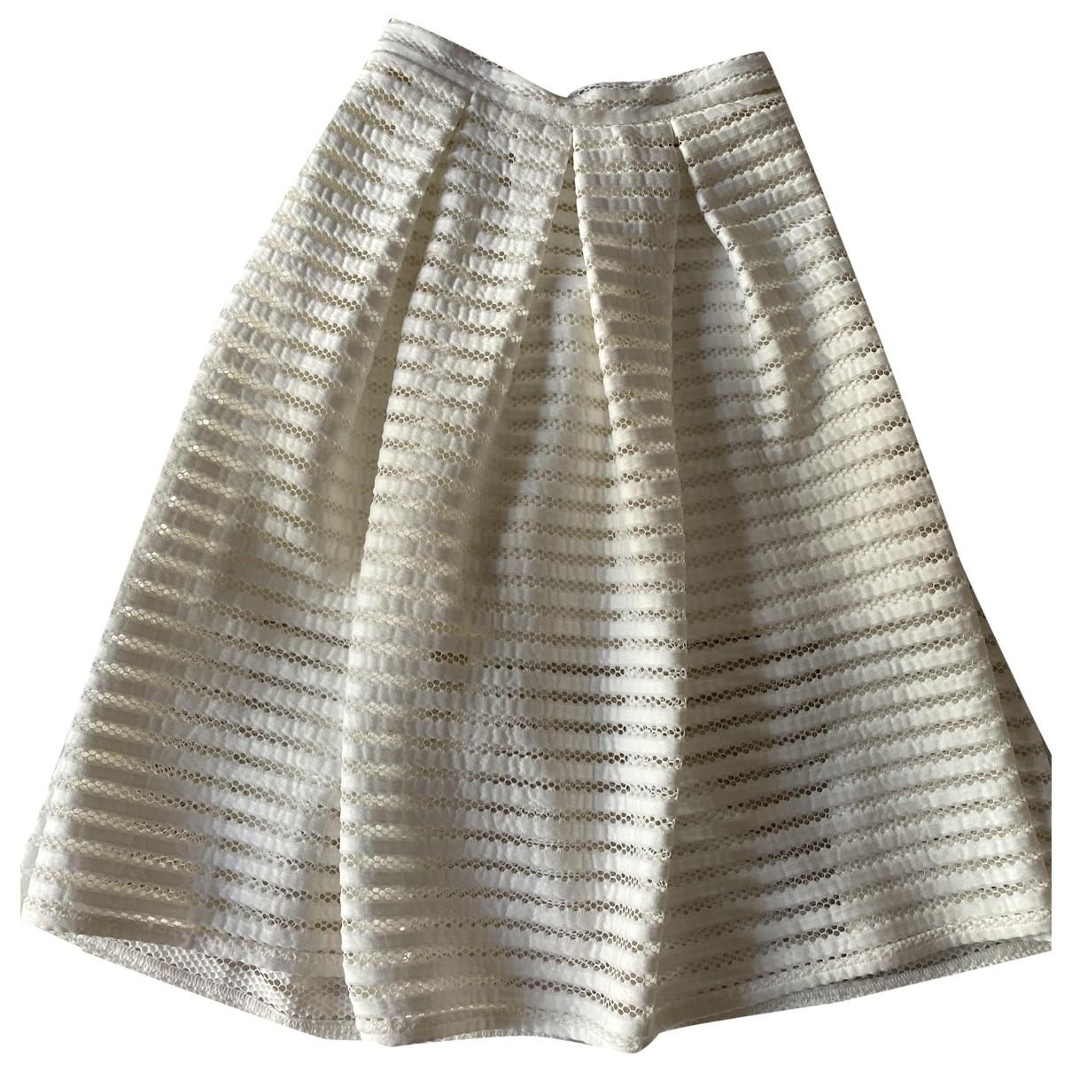 Topshop - Jupe   pour femme en coton - blanc