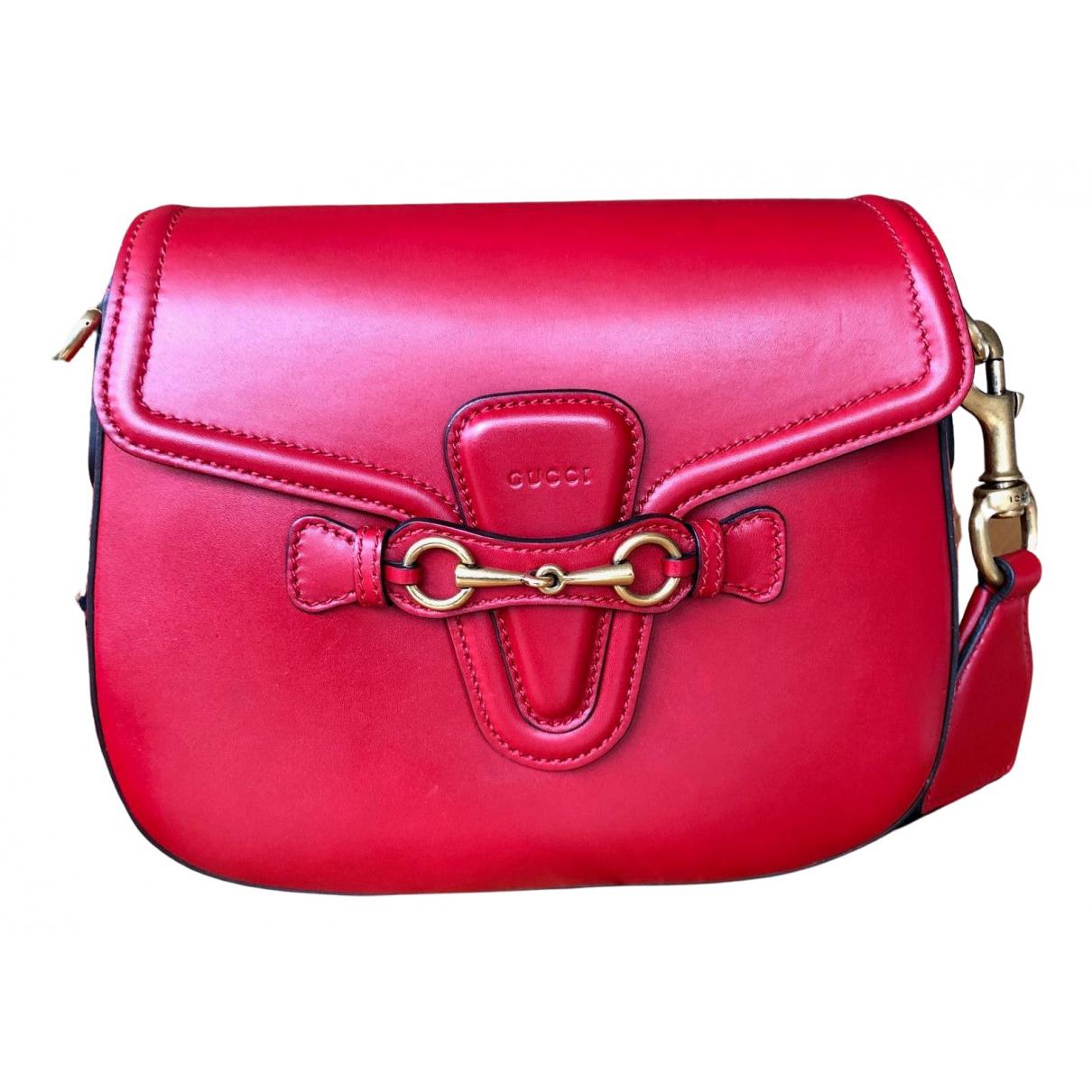 Gucci - Sac a main Lady Web pour femme en cuir - rouge