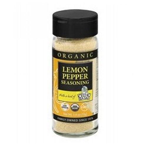 Organic Spice Blend Lemon Pepper 1.8 Oz by Celtic Sea Salt