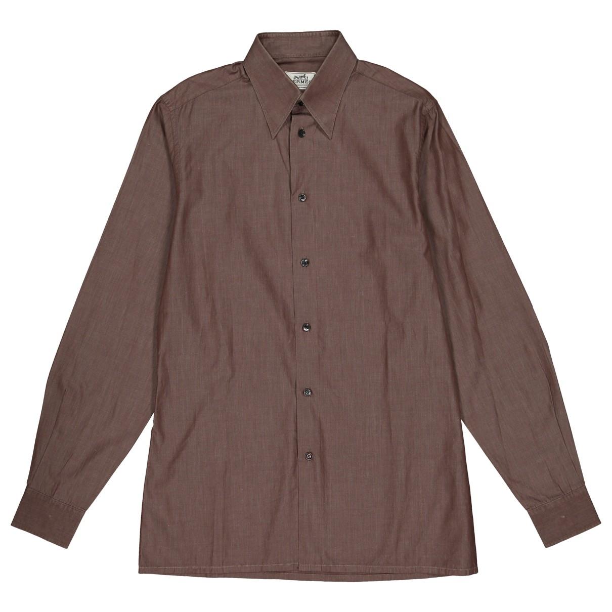 Hermes - Chemises   pour homme en coton - marron