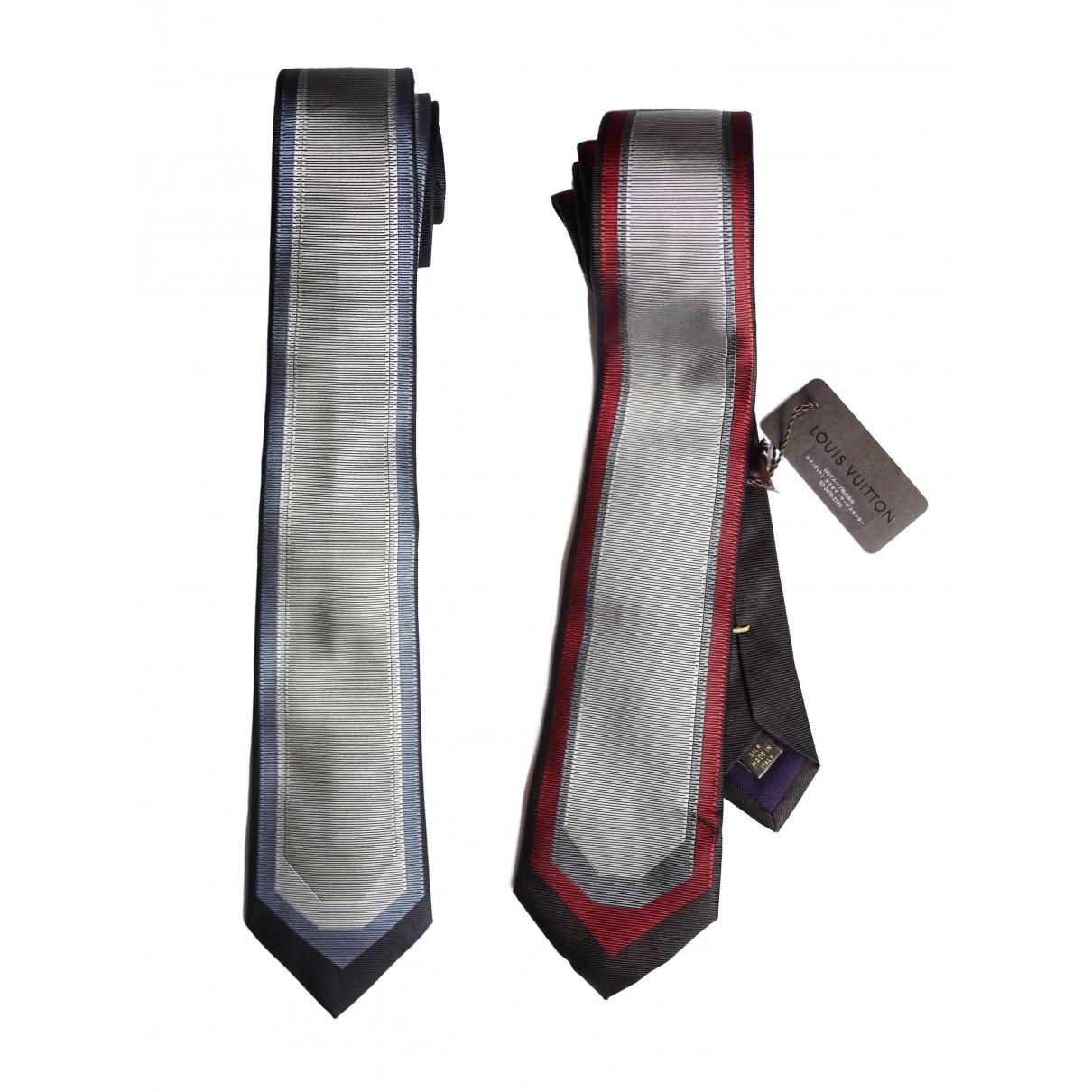 Louis Vuitton - Cravates   pour homme en soie - gris
