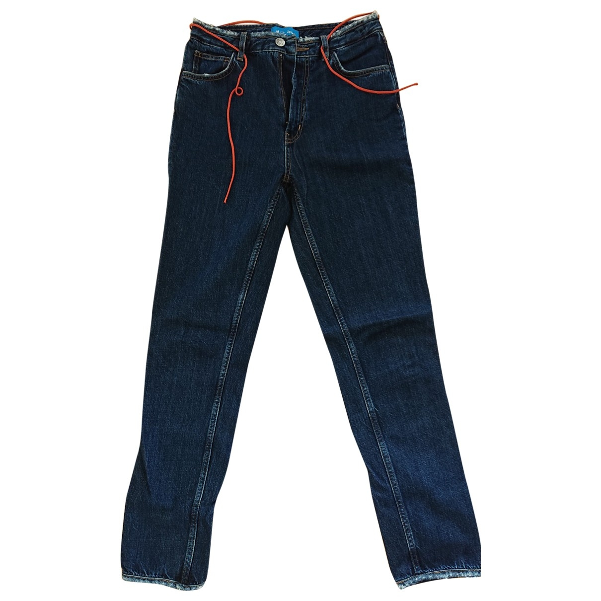 Mih Jeans \N Blue Cotton - elasthane Jeans for Women 28 US