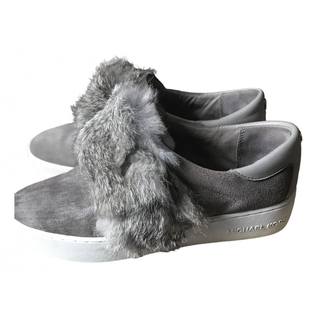 Michael Kors \N Sneakers in  Grau Veloursleder