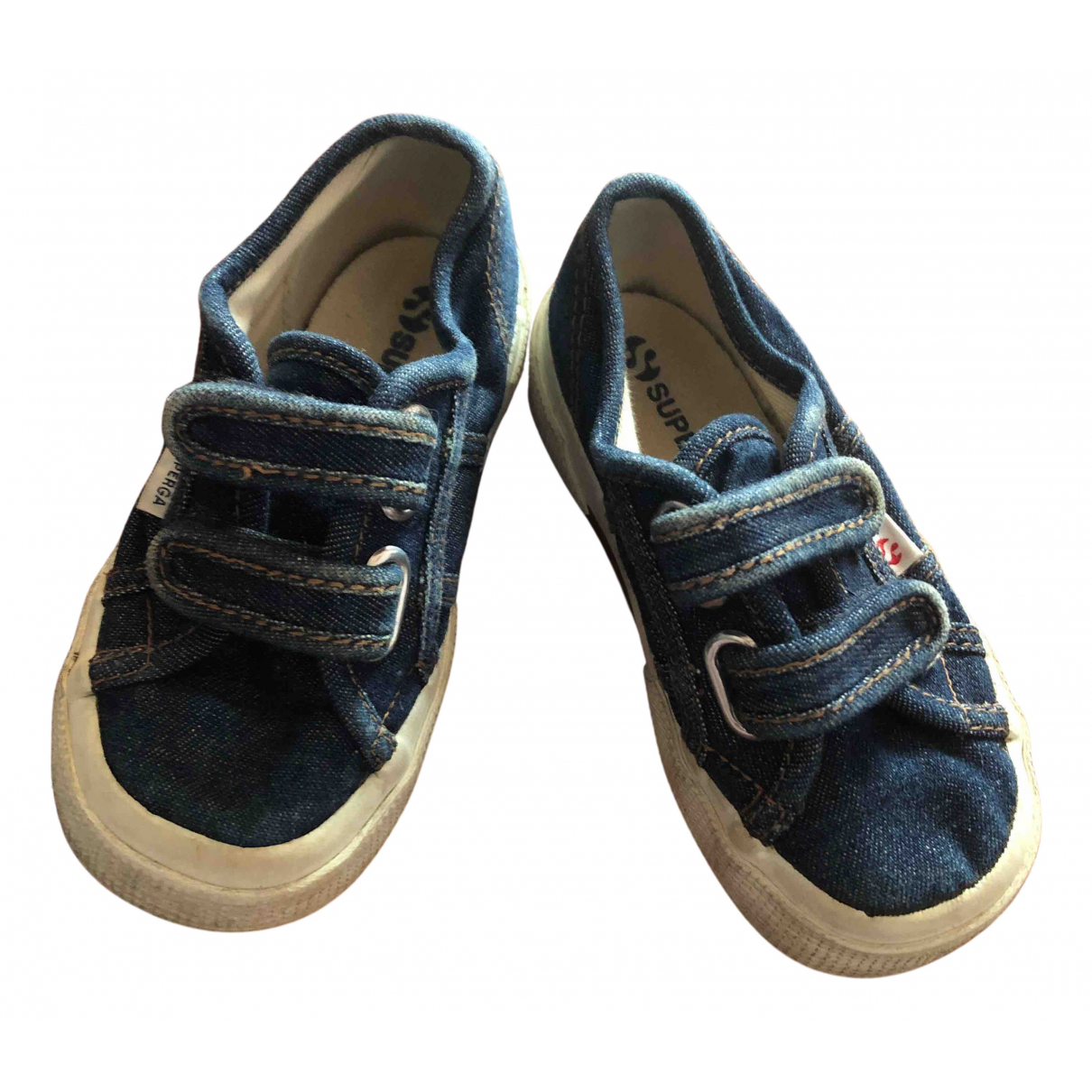 Superga N Blue Cloth Trainers for Kids 25 FR