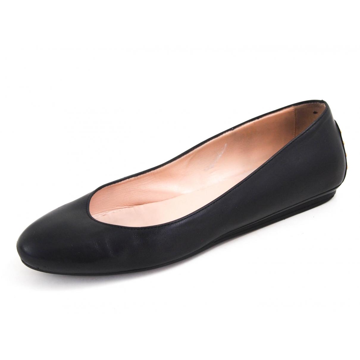 Tods - Ballerines   pour femme en cuir - noir