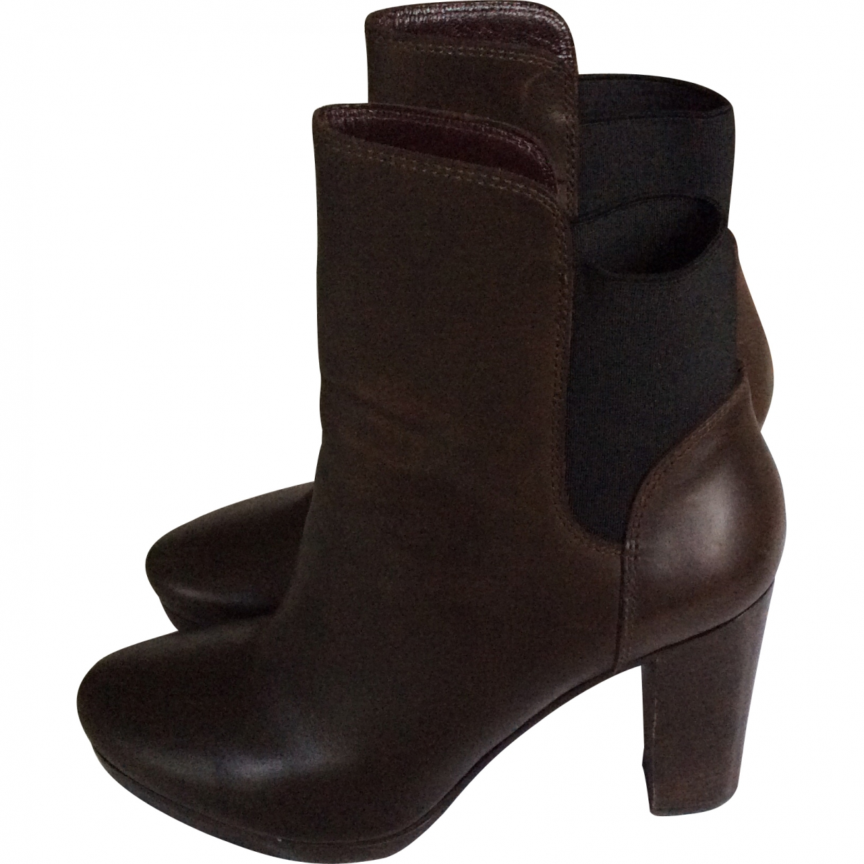 Vanessa Bruno \N Brown Leather Ankle boots for Women 37 EU