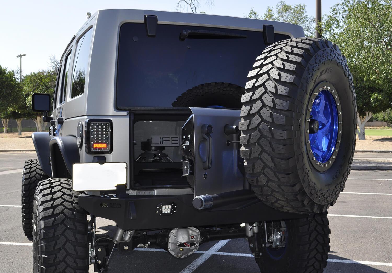 Addictive Desert Design Rear Gate Tire Holder Jeep Wrangler JK 07-16