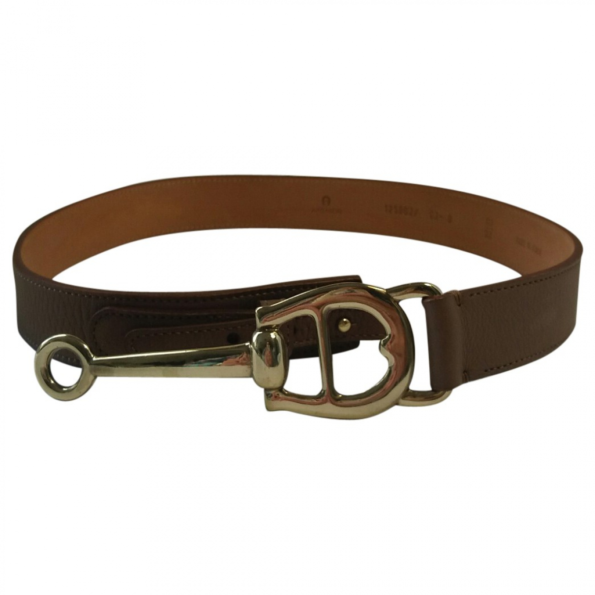 Aigner \N Brown Leather belt for Women 80 cm