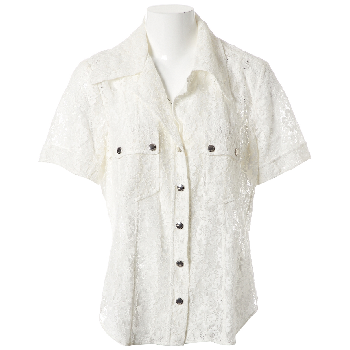 Chloé \N White Lace  top for Women 42 FR