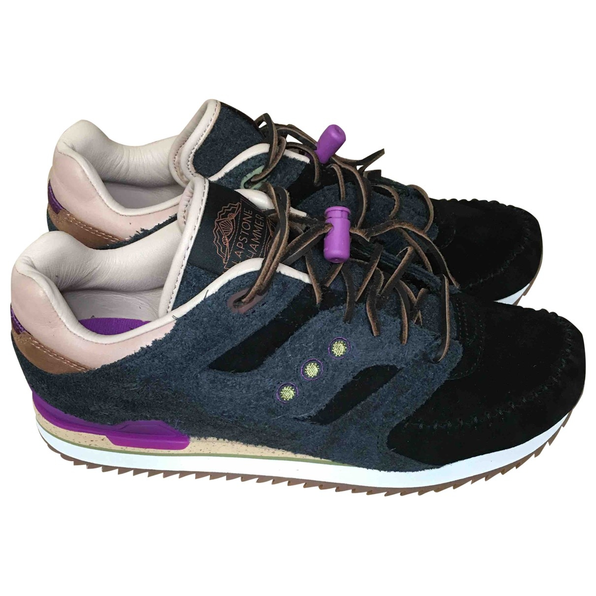 Saucony \N Black Leather Trainers for Men 8.5 US