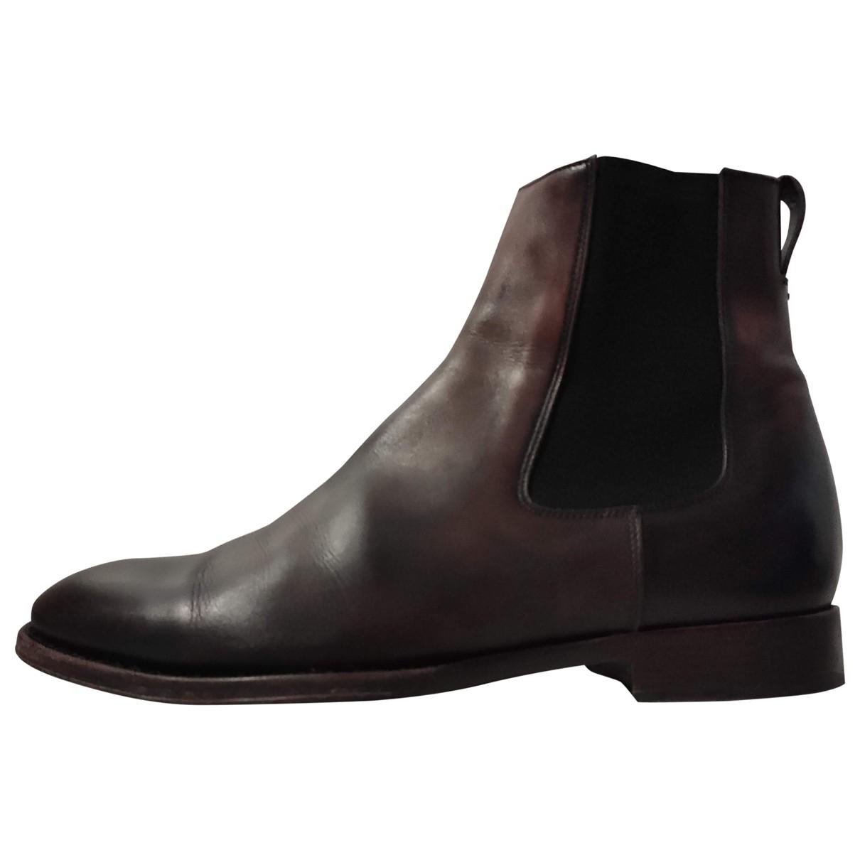 Paul Smith \N Stiefel in  Bordeauxrot Leder