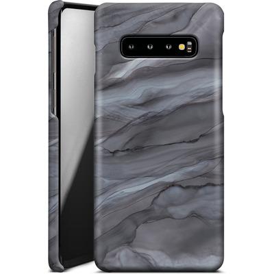 Samsung Galaxy S10 Plus Smartphone Huelle - Black Watercolour Marble von Becky Starsmore