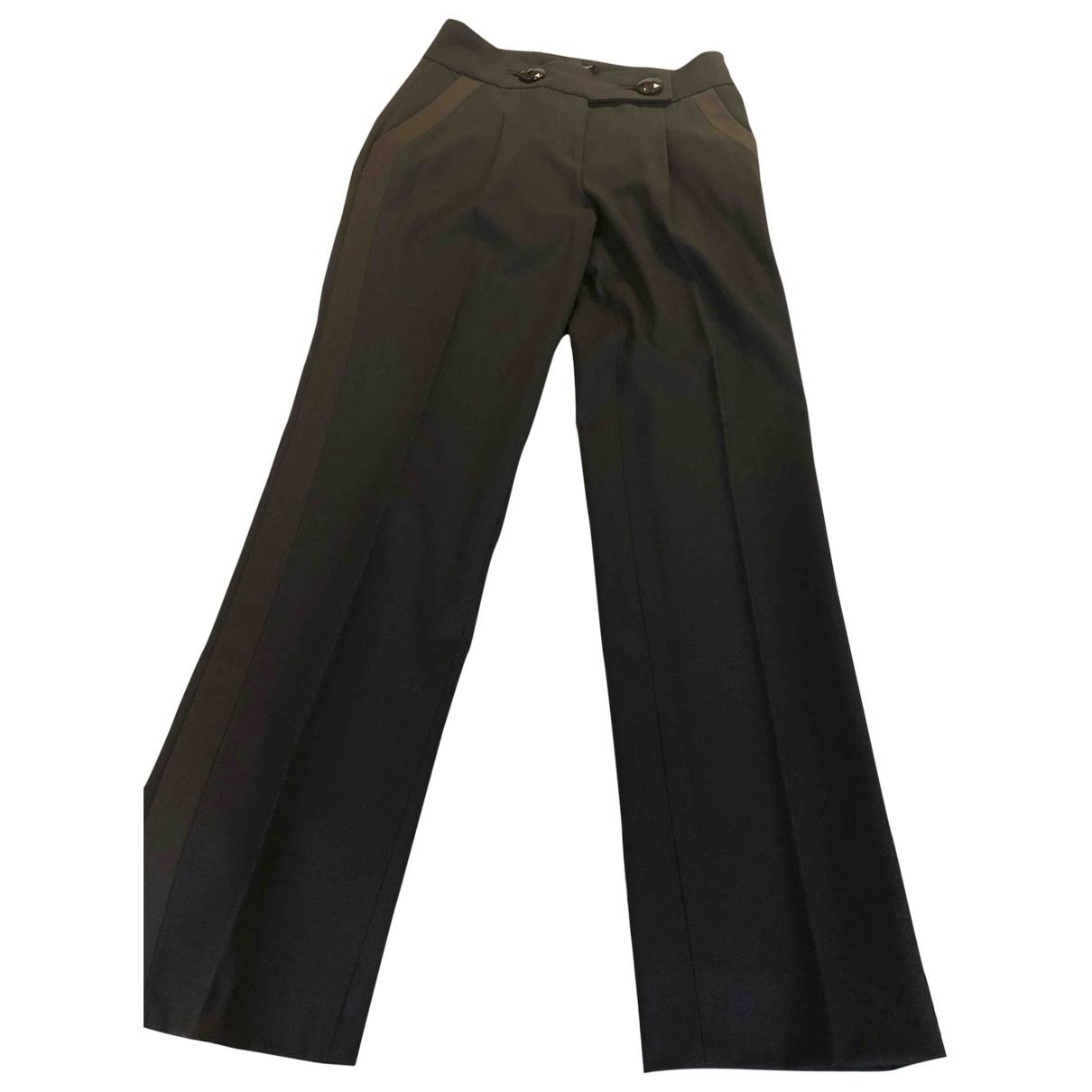 Giambattista Valli \N Black Wool Trousers for Women 40 FR