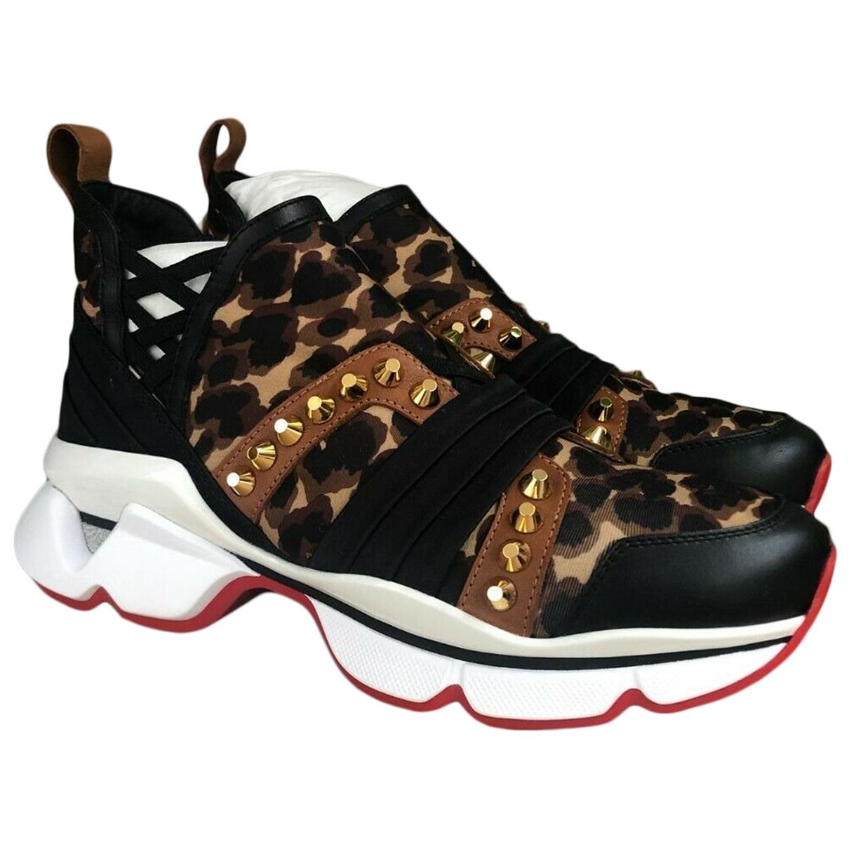 Christian Louboutin \N Sneakers in  Braun Leinen