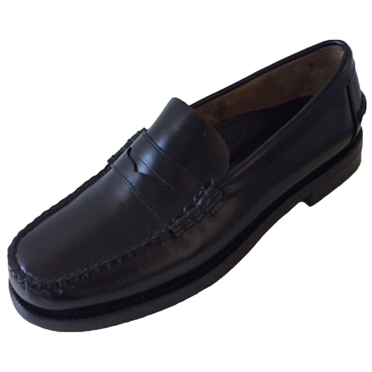 Sebago - Mocassins   pour homme en cuir - noir