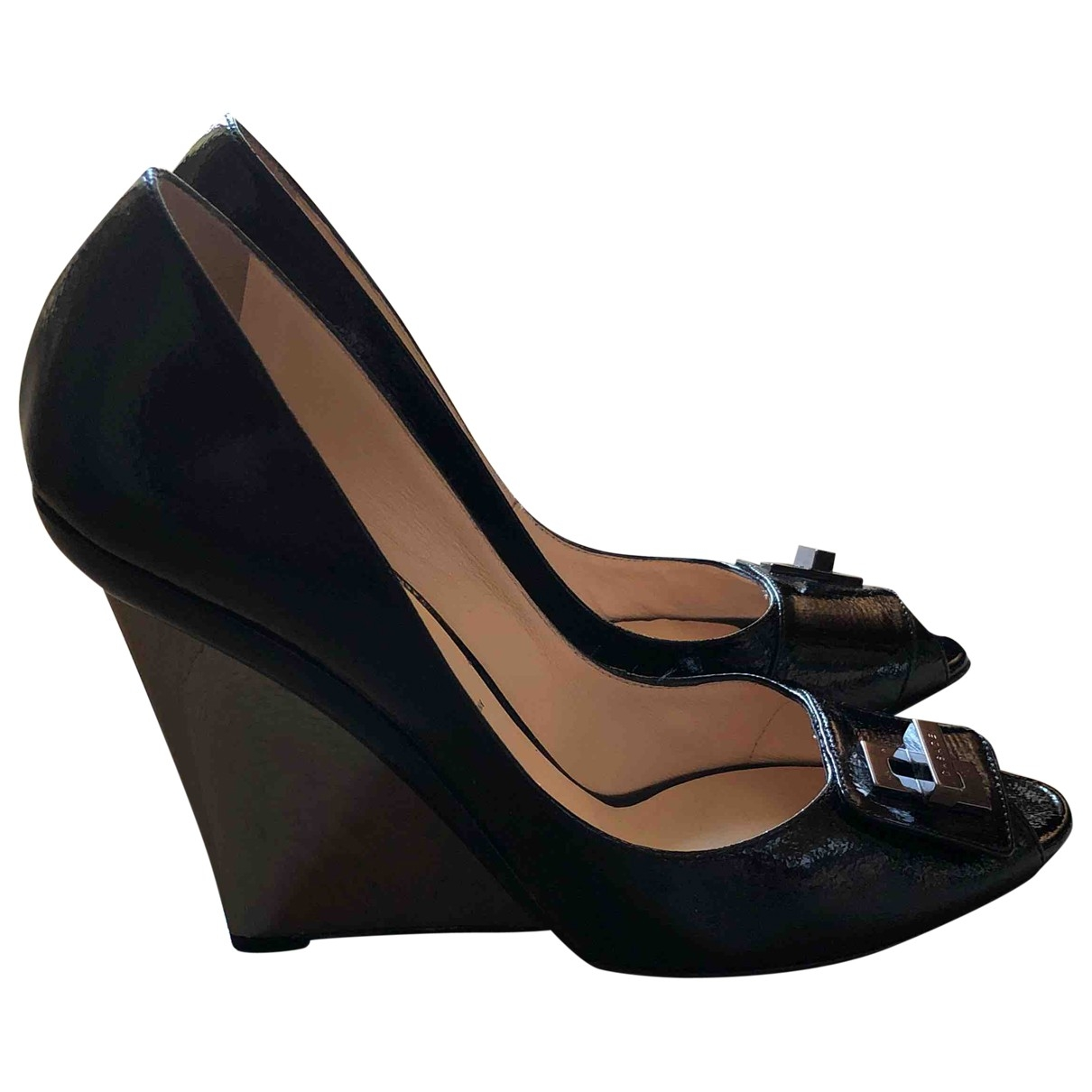 Casadei \N Black Patent leather Heels for Women 37 EU