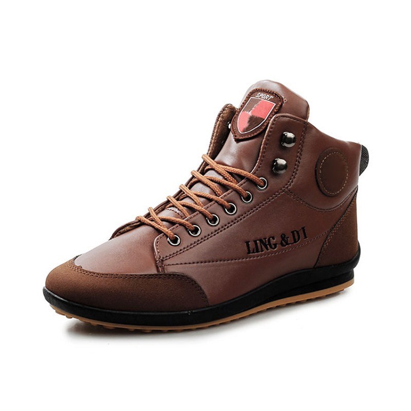 Ericdress All Matched Pu Patchwork Men's Sneakers