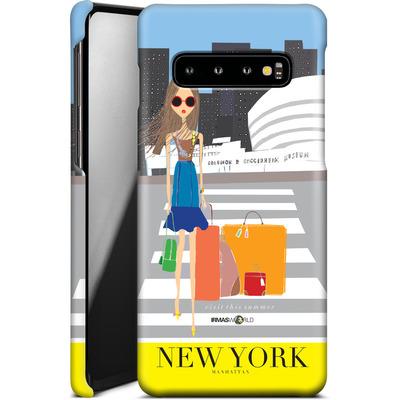 Samsung Galaxy S10 Smartphone Huelle - NEW YORK TRAVEL POSTER von IRMA