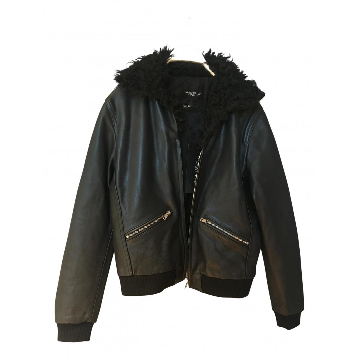 Giambattista Valli X H&m - Blouson   pour femme en cuir - noir