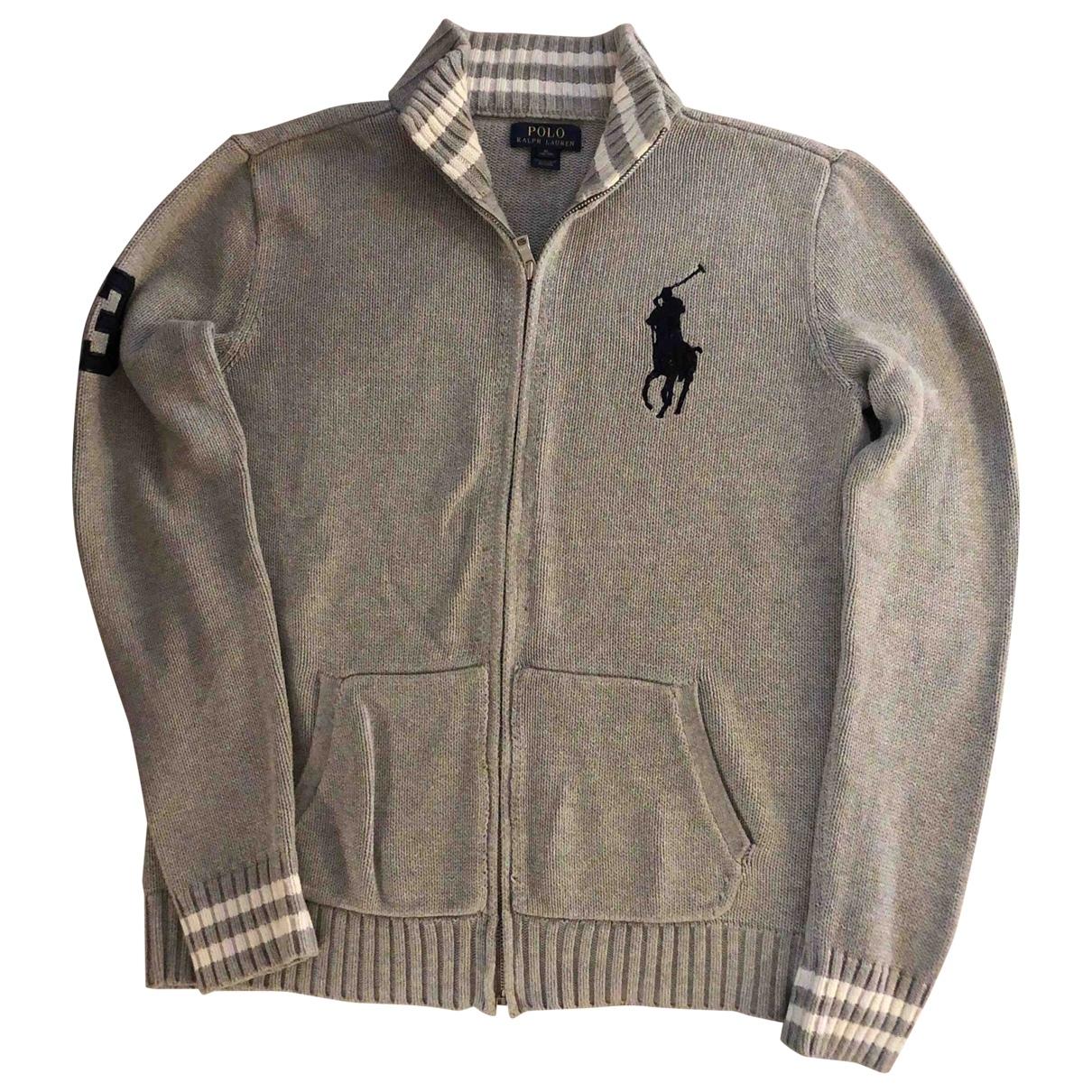 Ralph Lauren - Pull   pour enfant en coton - gris