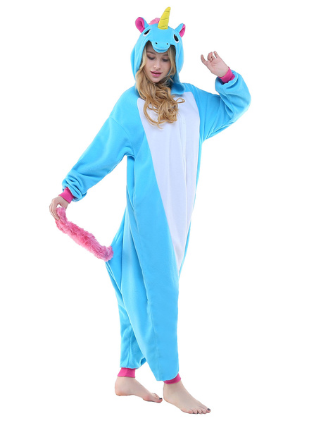 Milanoo Kigurumi Pajama Licorne Unicorn Onesie Adults Unisex Flannel Animal Costume Halloween