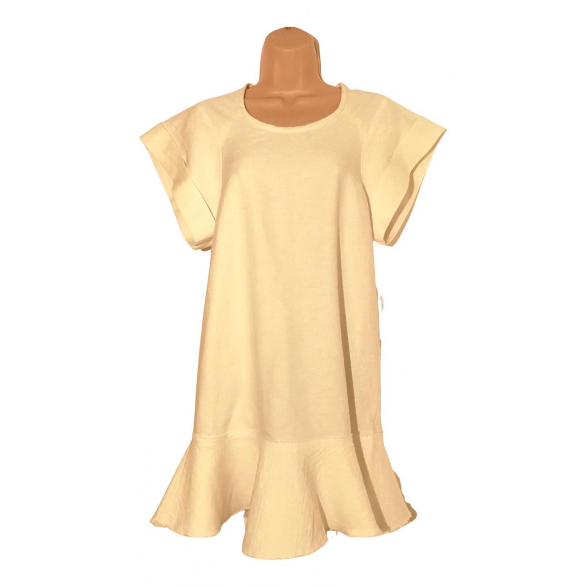 Isabel Marant Etoile \N Kleid in  Ecru Leinen