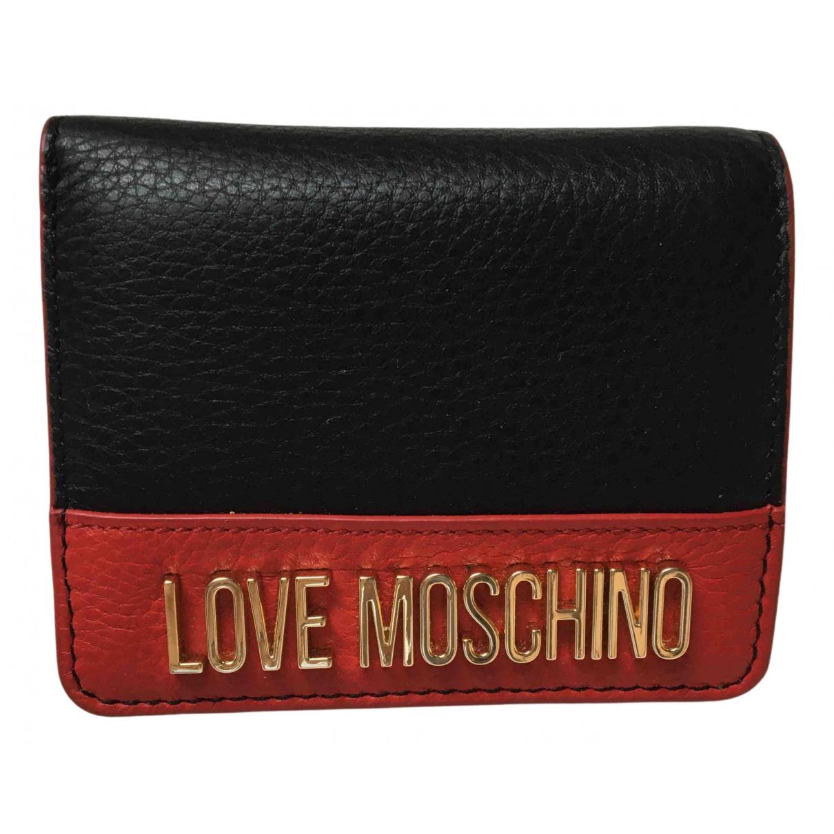 Cartera de Cuero Moschino Love
