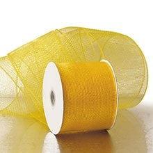 Lt Gold Deco Mesh - 4 X 20 Yards - Polypropylene / Cellophane - Wraps by Paper Mart