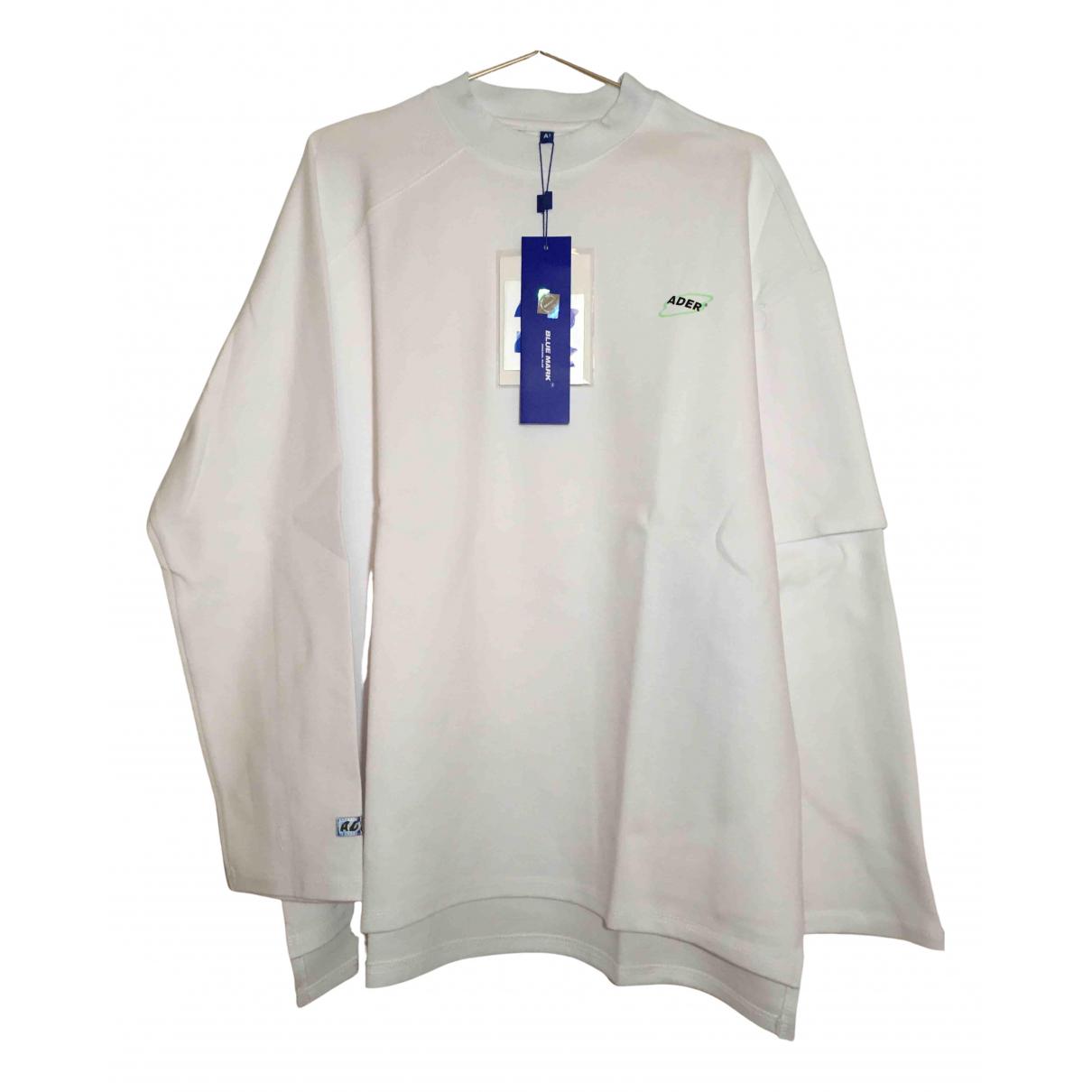 Ader Error \N Pullover.Westen.Sweatshirts  in  Weiss Baumwolle