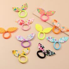 10pcs Bow Decor Hair Tie