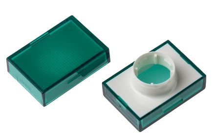 Saia-Burgess Green Rectangular Push Button Lens for use with TP2 Series (5)