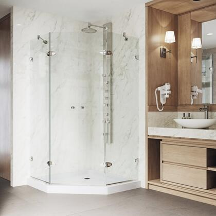 Gemini Collection VG6063BNCL42WS Frameless Neo-Angle Shower Enclosure With Low-Profile
