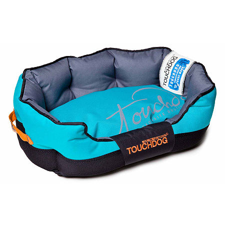 The Pet Life Touchdog Performance-Max Sporty Comfort Cushioned Dog Bed, One Size , Blue
