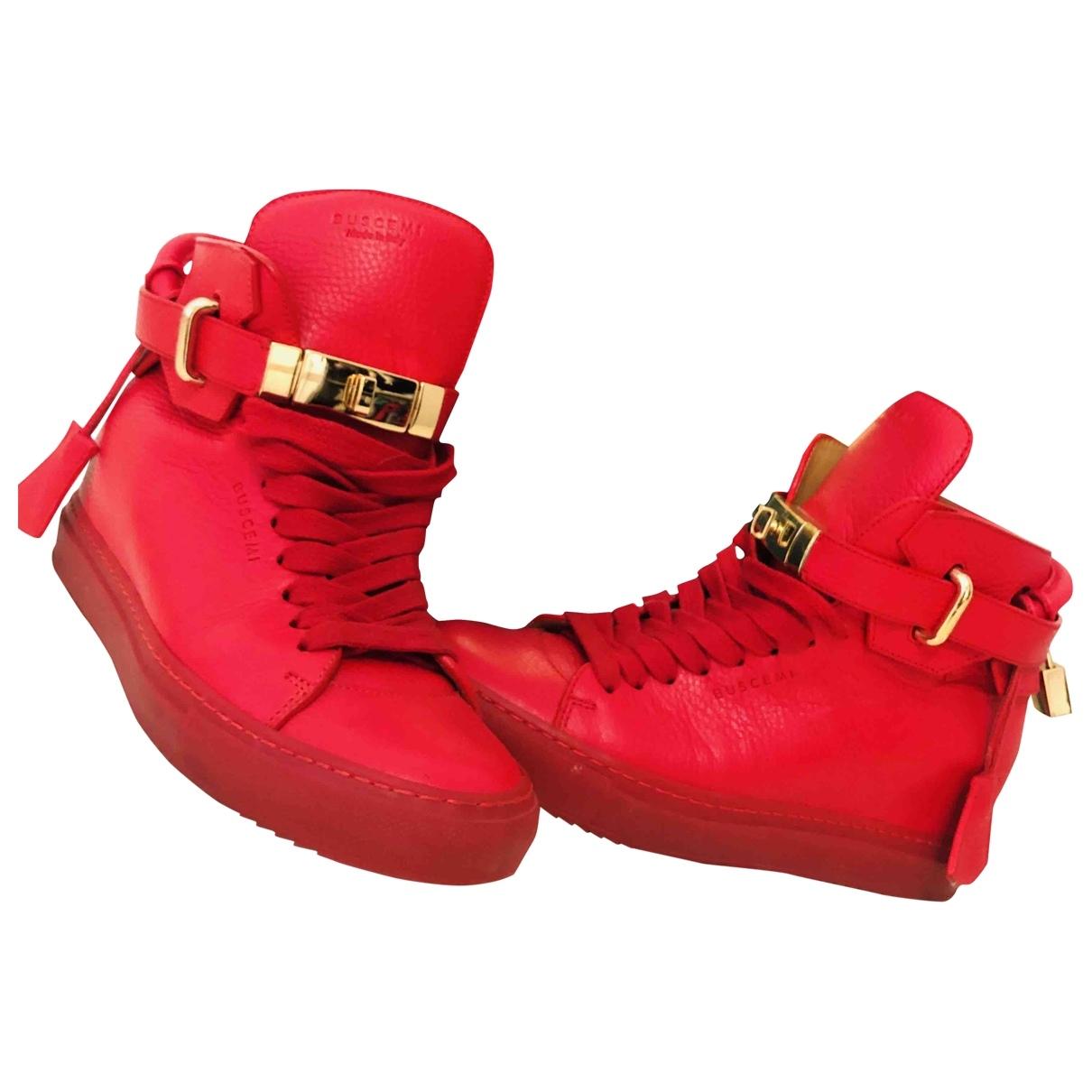 Buscemi - Baskets   pour femme en cuir - rouge