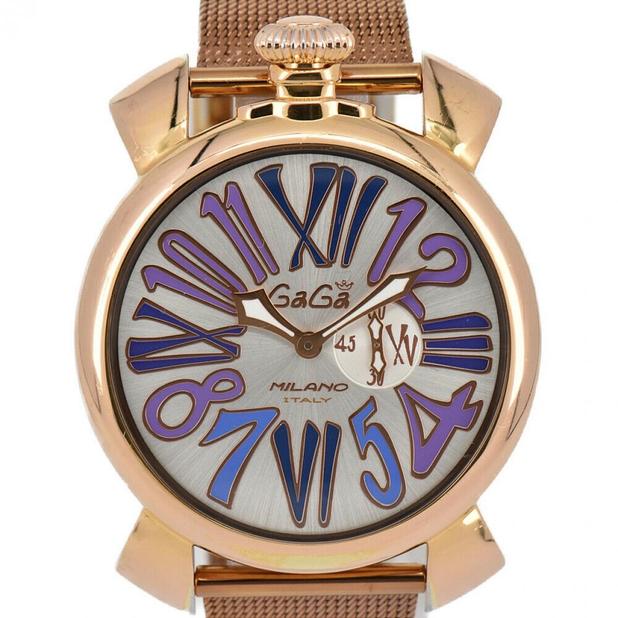 Autre Marque \N Uhr in  Silber Vergoldet